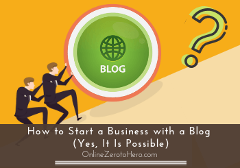 how to start a business with a blog header