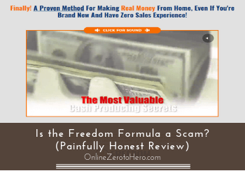Is the Freedom Formula a Scam? (Painfully Honest Review)