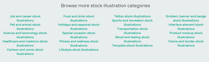 istock illustration categories