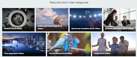 istock video categories