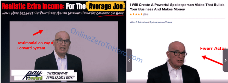 pay it forwad system fiverr actor