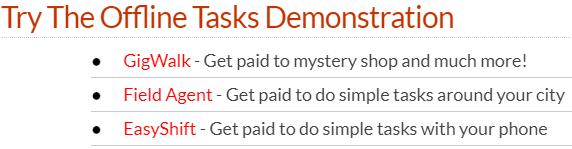 real money streams offline tasks