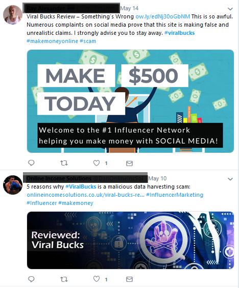twitter complaints viral bucks