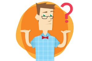 confused man that is beginner with affiliate marketing