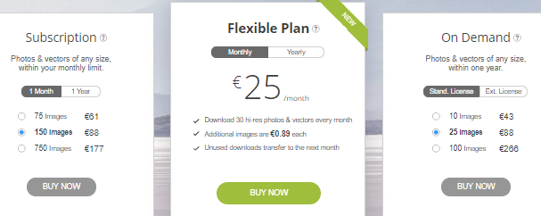 depositphotos images pricing