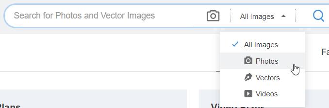 depositphotos search function