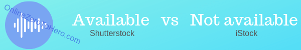 music on shutterstock and istock compared