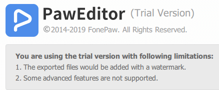 paweditor free trial limitations