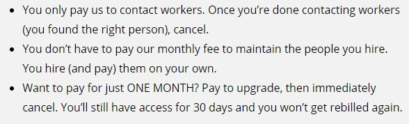 cancellation policy on onlinejobs ph