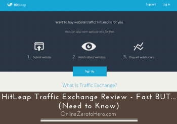 hitleap traffic exchange review header