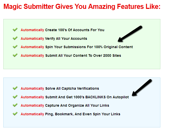 magic submitter software features