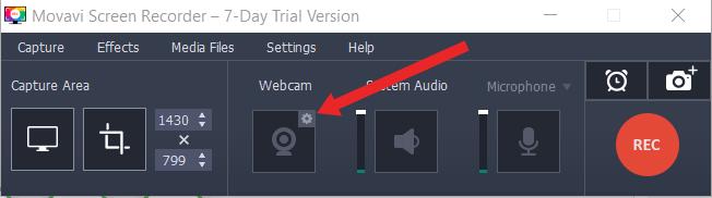 movavi webcam settings