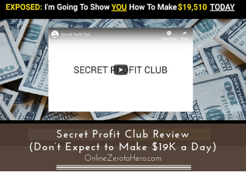secret profit club review header