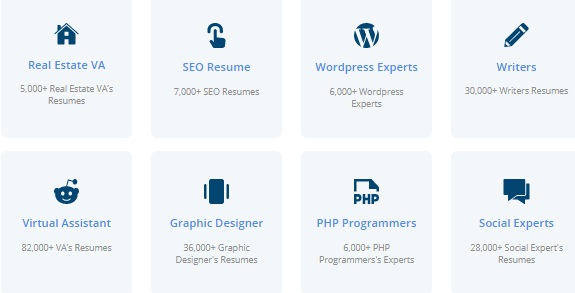 types of workers on onlinejobs ph