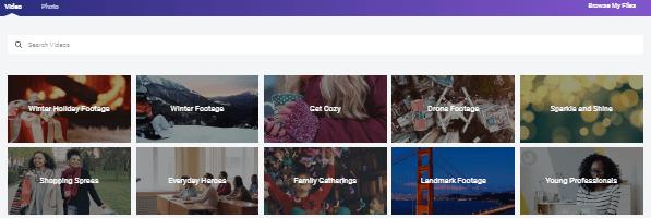 video categories on flexclip