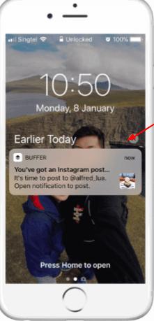 buffer smartphone notification