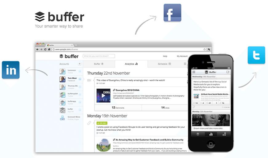buffer web mobile dashboard