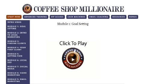 coffee shop millionaire training module