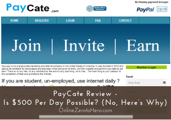 PayCate Review – Is $500 Per Day Possible? (No, Here's Why)