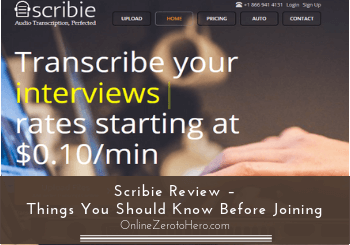 scribie review header