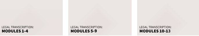 transcribe anywhere legal course modules