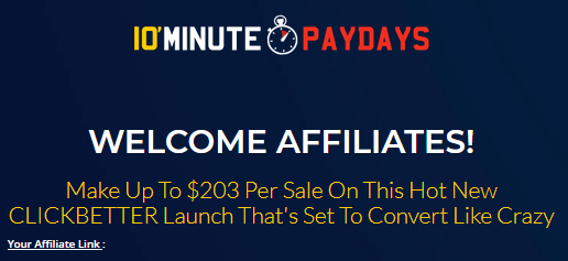 10 minute paydays affiliates payment