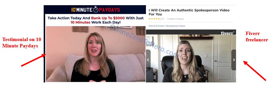 10 minute paydays fake testimonial