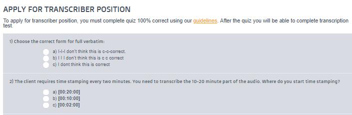 gotranscript quiz
