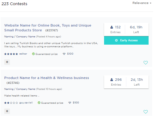 squadhelp naming contest example