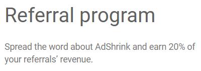 adshrink referral program