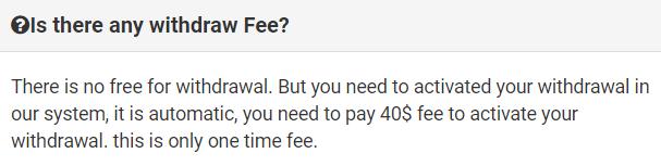 captcha club withdrawal fee