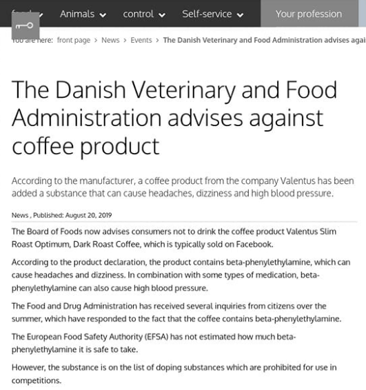 danish warning against valentus