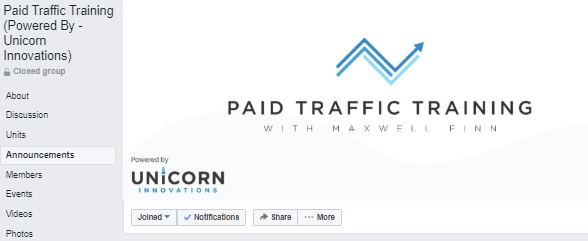 facebook group paid traffic training