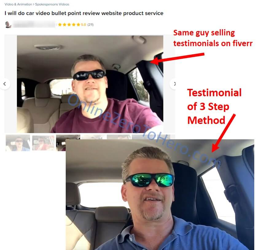 3 step method fake testimonial evidence