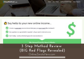 3 step method review header