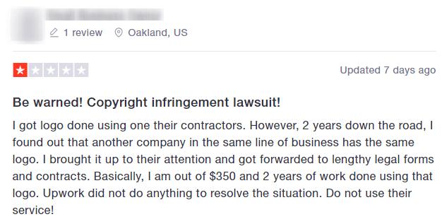copyright-infringement complaint upwork