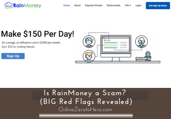 is rainmoney a scam review header