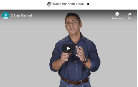 sales video of 3 step method