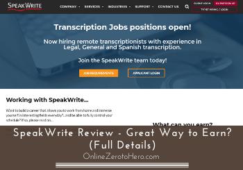 SpeakWrite Review – Great Way to Earn? (Full Details)