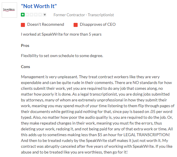 speakwrite testimonial example 2
