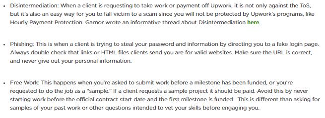 tips to avoid upwork job scams
