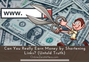 earn money by shortening links header