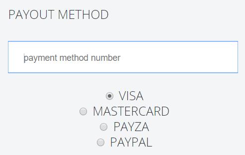 minimum payout information