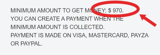 minimum payout oproswho