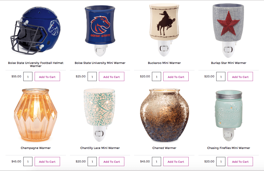 scentsy shop items