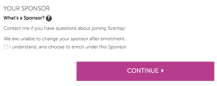 scentsy sponsor disclaimer