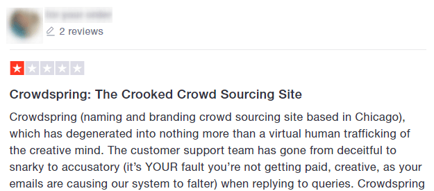 crowdspring complaint example