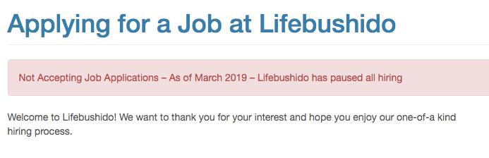 lifebushido-not-hiring
