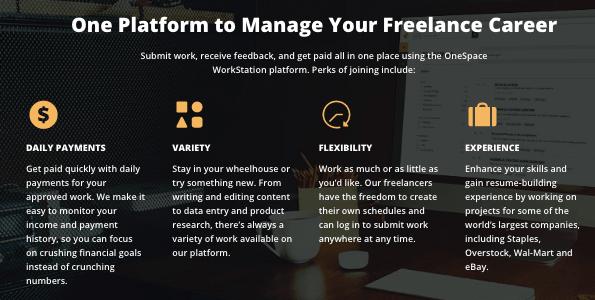 OneSpace freelancer perks