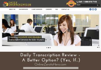 daily transcription review header